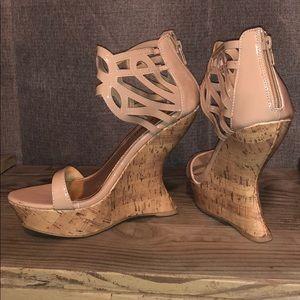 Sandal wedge heels